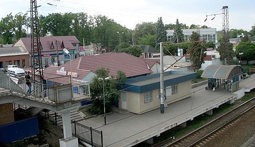 Вид на Боярку з залізничного мосту