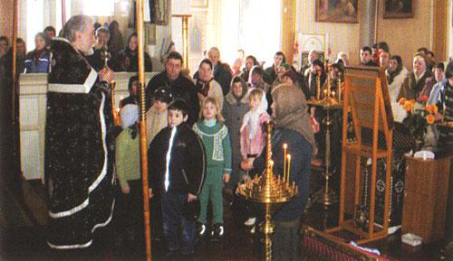 Служба в Храме Архистратига Божия Михаила