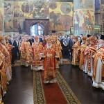 Патріарше служіння в Успенському соборі Московського Кремля у понеділок Світлої седмиці