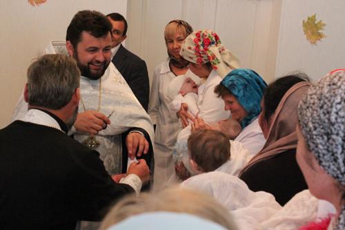 В дитячому обласному будинку «Малятко» (м.Боярка) відбулося хрещення дітей